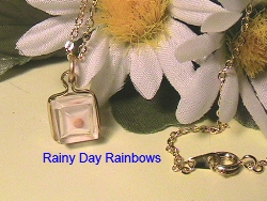Mustard Seed Clear Cube Necklace