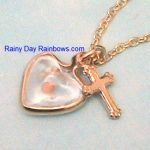 mustard seed heart with cross necklace