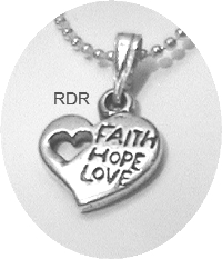 Faith Hope Love Heart Necklace