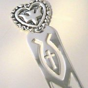 holy spirit dove in heart bookmark