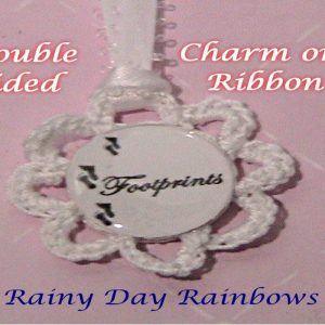 Footprints Charm on Ribbon