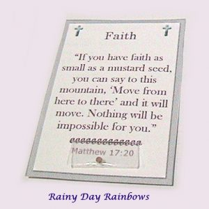 mustard seed faith card with real mustard seed