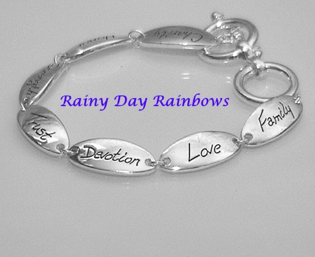 words to live by bracelet